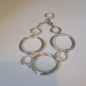 Sterling Silver Hoop Bracelet